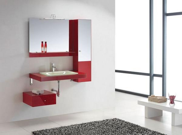 decoracao de banheiro vermelho e branco:Red Bathroom Accessories Ideas