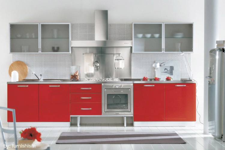 decoracao cozinha branca e vermelha:Nos quartos, procure usar com cuidado e aplicá-la mais em detalhes.