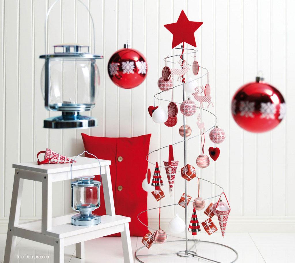 ideias para decorar arvore de natal branca : ideias para decorar arvore de natal branca:Idéias Criativas para Decorar Árvores de Natal
