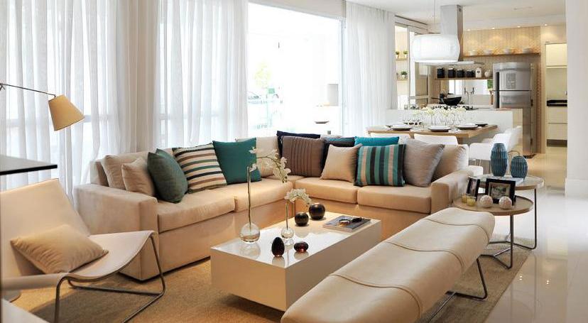 Sala De Tv Decorada Com Almofadas ~ Decoração de sala com almofadas